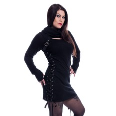 svetr dámský Poizen Industries - REECE TOP LADIES BLACK, POIZEN INDUSTRIES